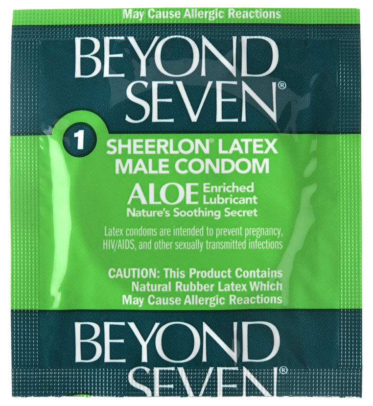 Beyond Seven Lubricated With Aloe Condoms